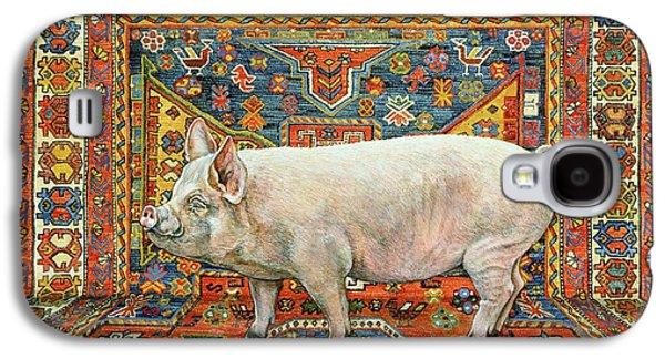 Singleton Carpet Pig Galaxy S4 Case by Ditz