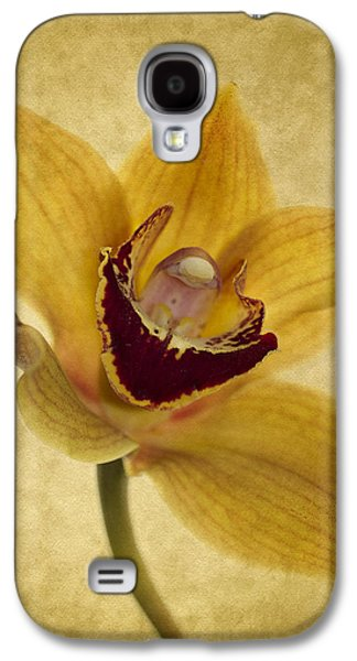 Orchid Galaxy S4 Case - Singular Sensation by Rebecca Cozart