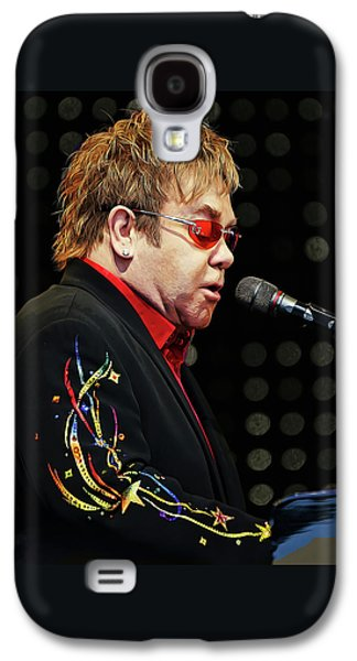 Sir Elton John At The Piano Galaxy S4 Case by Elaine Plesser