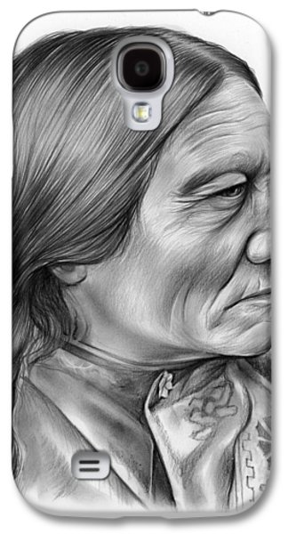 Bull Galaxy S4 Case - Sitting Bull by Greg Joens