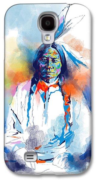 Sitting Bull Watercolor Galaxy S4 Case by Bekim Art
