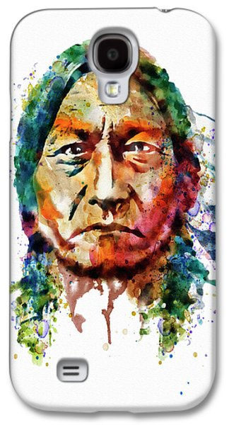 Sitting Bull Watercolor Painting Galaxy S4 Case by Marian Voicu