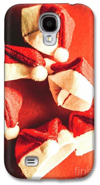 Six Santa Hats In Vintage Tone Galaxy S4 Case by Jorgo Photography - Wall Art Gallery