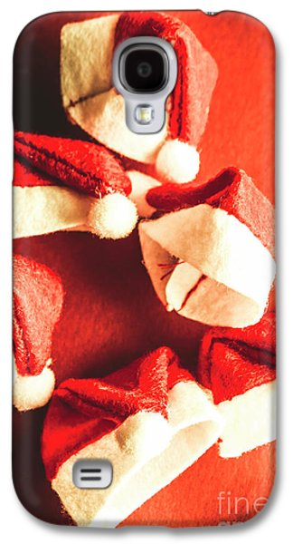 Six Santa Hats In Vintage Tone Galaxy S4 Case by Jorgo Photography - Wall Art Gallery