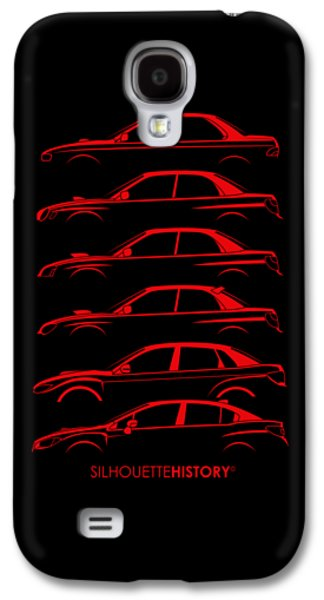 Six Stars No-wing Silhouettehistory Galaxy S4 Case by Gabor Vida