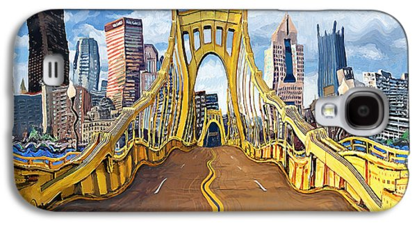 Sixth Street Bridge, Pittsburgh Galaxy S4 Case by Frank Harris