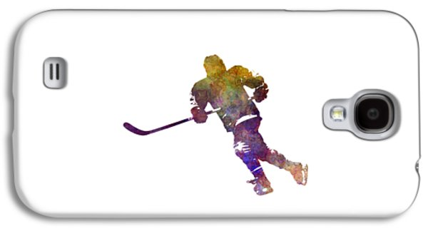 Skater With Stick In Watercolor Galaxy S4 Case