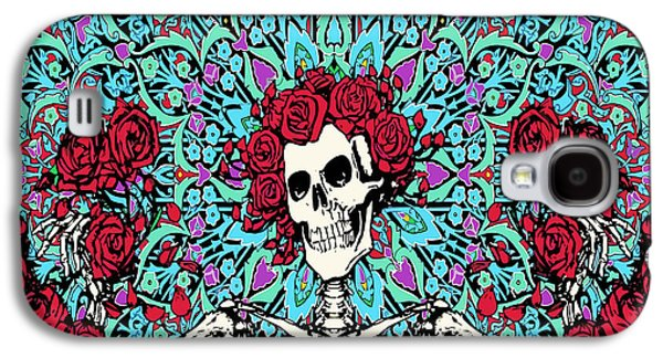 skeleton With Roses Galaxy S4 Case