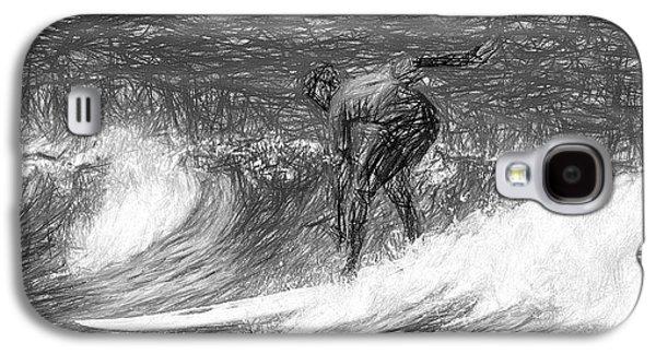 Sketch A Wave Galaxy S4 Case