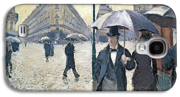 Sketch For Paris A Rainy Day Galaxy S4 Case by Gustave Caillebotte