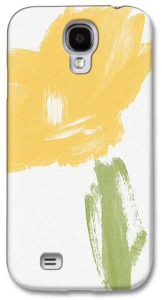 Sketchbook Yellow Rose- Art By Linda Woods Galaxy S4 Case by Linda Woods