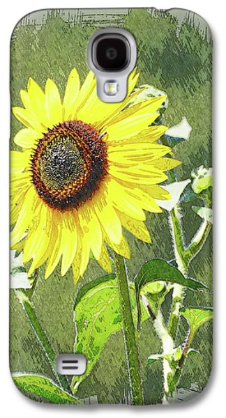 Sketchy Sunflower 1 Galaxy S4 Case by Marty Koch