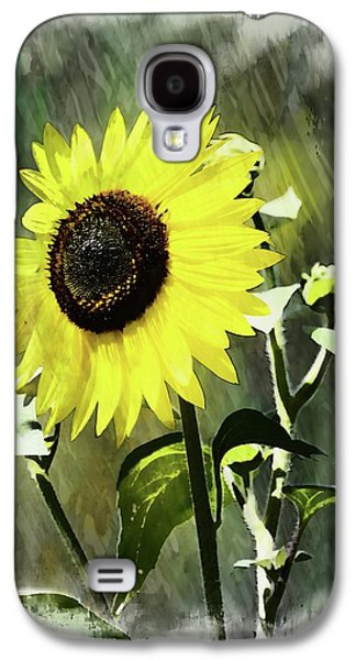 Sketchy Sunflower 2 Galaxy S4 Case by Marty Koch