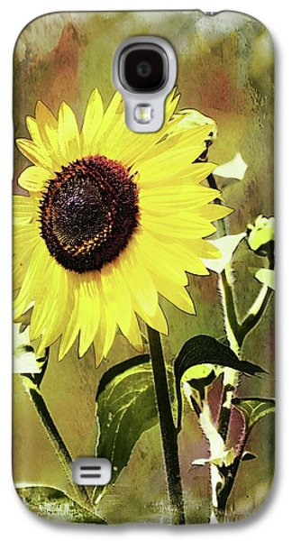 Sketchy Sunflower 3 Galaxy S4 Case by Marty Koch