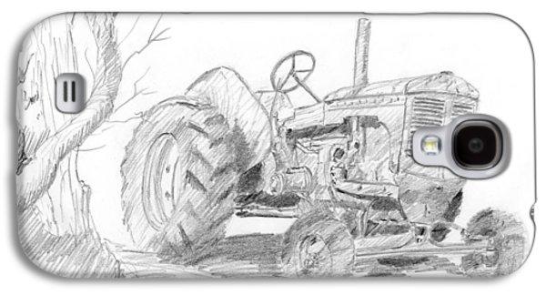 Sketchy Tractor Galaxy S4 Case by David King