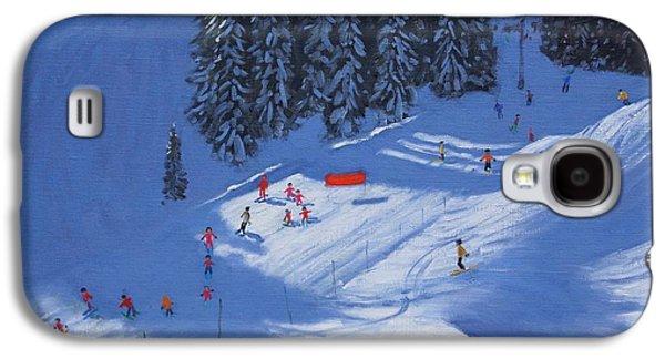 Ski School Morzine Galaxy S4 Case by Andrew Macara