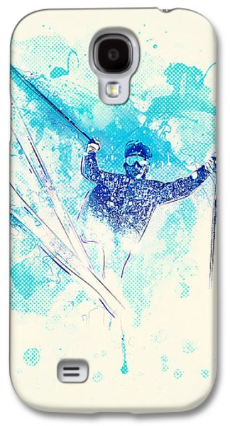 Skiing Down The Hill Galaxy S4 Case by BONB Creative