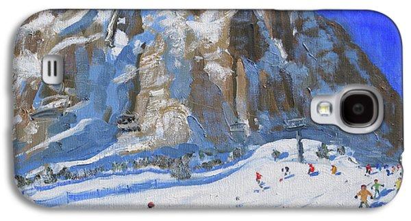 Skiing Down The Mountain,selva Gardena Galaxy S4 Case by Andrew Macara