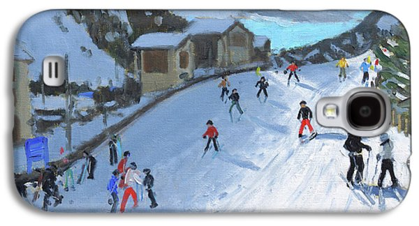 Skiing Down To Selva Val Gardena Galaxy S4 Case by Andrew Macara