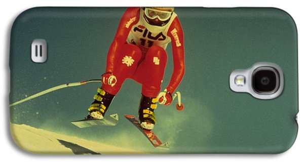 Galaxy S4 Case featuring the photograph Skiing In Crans Montana by Travel Pics