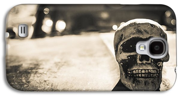 Galaxy S4 Case featuring the photograph Skull Car by Lora Lee Chapman