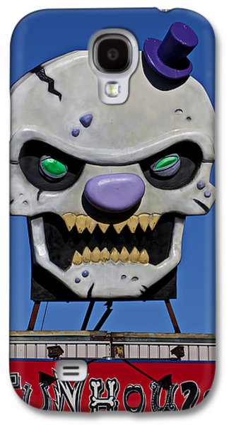 Skull Fun House Sign Galaxy S4 Case by Garry Gay