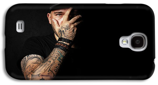 Skull Tattoo On Hand Covering Face Galaxy S4 Case