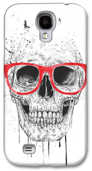 Skull With Red Glasses Galaxy S4 Case