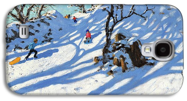 Sledging, Glutton Bridge, Buxton, Derbyshire Galaxy S4 Case by Andrew Macara