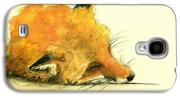 Sleeping Fox Galaxy S4 Case by Juan  Bosco