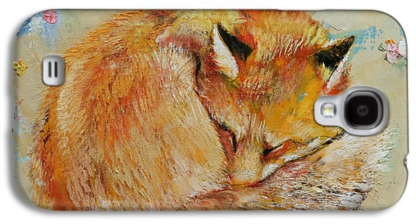 Sleeping Fox Galaxy S4 Case by Michael Creese