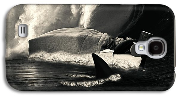 Sleeping With Sharks Black And White Galaxy S4 Case