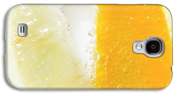 Slice Of Orange And Lemon In Cocktail Glass Galaxy S4 Case