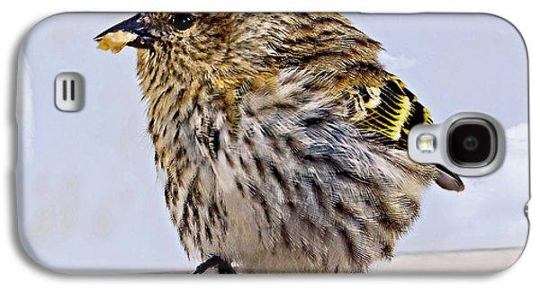 Small Bird Eating Seed Galaxy S4 Case by Susan Leggett