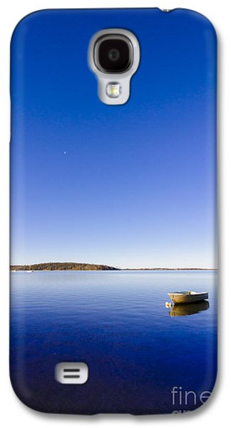 Small Boat Anchored Out To Sea Galaxy S4 Case by Jorgo Photography - Wall Art Gallery