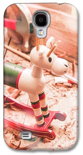 Small Xmas Reindeer On Wood Shavings In Workshop Galaxy S4 Case