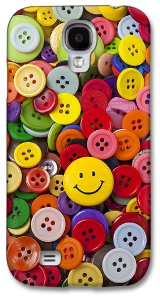 Smiley Face Button Galaxy S4 Case