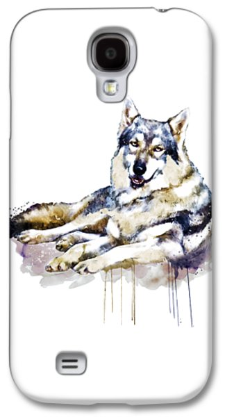 Smiling Wolf Galaxy S4 Case by Marian Voicu