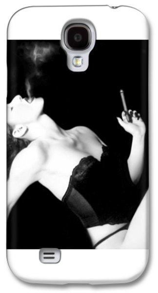 Smoke And Seduction - Self Portrait Galaxy S4 Case by Jaeda DeWalt