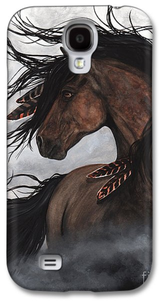 Smoke Majestic Horse Galaxy S4 Case by AmyLyn Bihrle