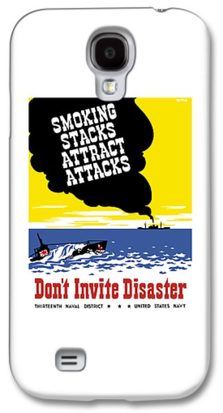 Historic Ship Galaxy S4 Cases - Smoking Stacks Attract Attacks Galaxy S4 Case by War Is Hell Store