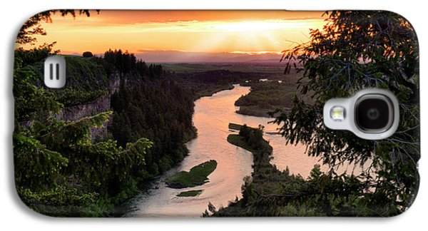 Snake River Sunset Galaxy S4 Case by Leland D Howard