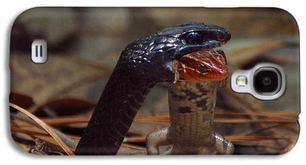 Wild Racers Galaxy S4 Case - Snake With Meal by Aaron Rushin
