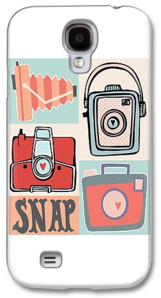 Snap - Vintage Cameras Galaxy S4 Case by Colleen VT