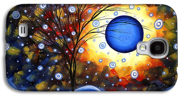 Snow Burst Cirlce Of Life Painting Madart Galaxy S4 Case