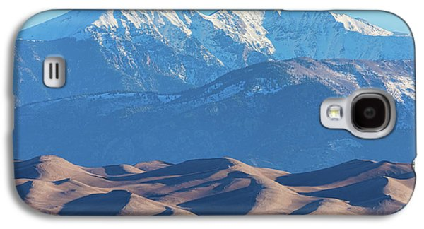 Snow Covered Rocky Mountain Peaks With Sand Dunes Galaxy S4 Case by James BO Insogna