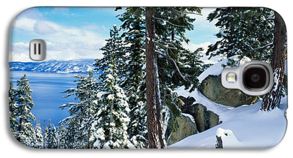 Snow Covered Trees On Mountainside Galaxy S4 Case