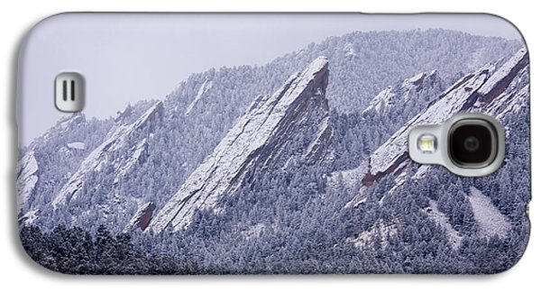 Snow Dusted Flatirons Boulder Colorado Galaxy S4 Case by James BO  Insogna