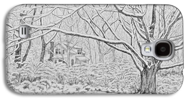 Snow On An Old Ash Tree Galaxy S4 Case by Janice Petrella-Walsh
