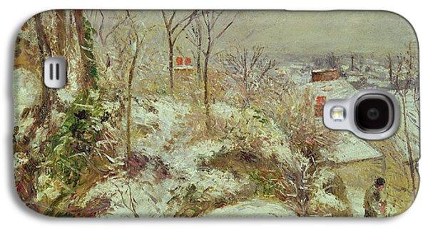 Snow Scene Galaxy S4 Case by Camille Pissarro
